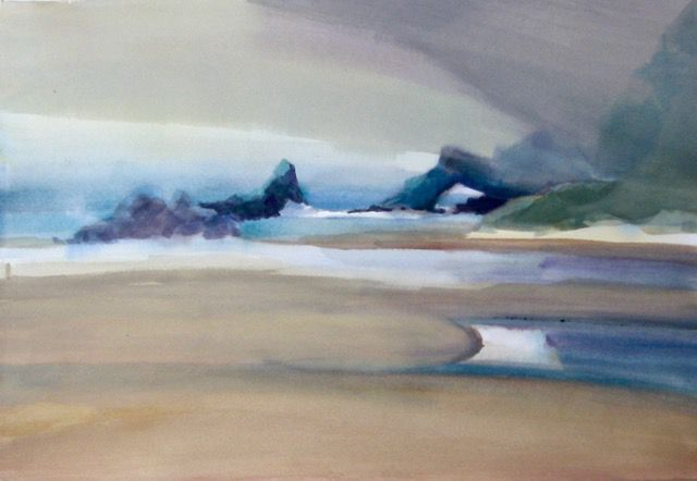 Karen Bowers: Navarro Beach Under Fog II